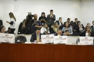 Aspecto del debate en la Comisión Primera de la Cámara  sobre el proyecto de cadena perpetua.
