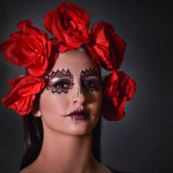 Maquillaje social con temática de catrina para lucir 'glam' en Halloween