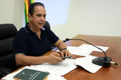 El concejal Rojano en una de las sesiones de la Comisión.