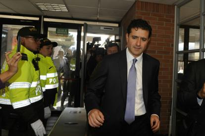 Francisco Uribe Noguera al llegar al Complejo Judicial de Paloquemao, en Bogotá.