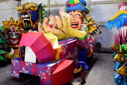 Estas es una de las carrozas elaboradas por Álvaro De la Hoz y su equipo de trabajo, las cuales serán entregadas a  distintas empresas privadas.