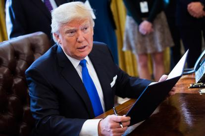 Donald Trump , firmará la orden esta semana.