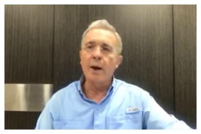 Captura de video a través del cual el senador Álvaro Uribe hizo las declaraciones.