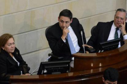 Dayra Galvis, Mauricio Lizcano e Iván Name.