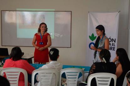 Marta Cambas, coordinadora de Acción Contra el Hambre en Córdoba y Johana Zuluaga, coordinadora de salud y nutrición de la misma entidad.