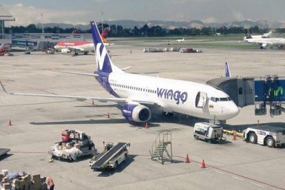 Avión de la aerolínea Wingo.