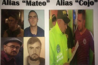 Alias 'Mateo' y el 'Cojo', los capturados por las autoridades.