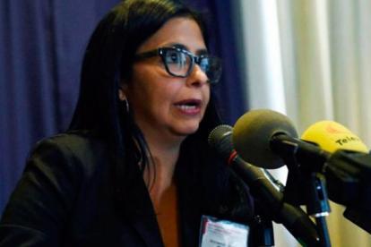 Delcy Rodríguez, canciller de Venezuela.