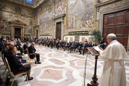 El Papa recibió ayer en el Vaticano a los líderes europeos que están en Roma.