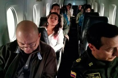 Miembros de las Farc viajando a Cartagena.