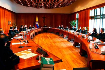 La Corte Constitucional durante una sesión.
