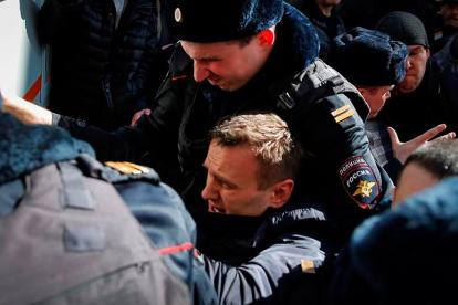 Detención de Navalni.