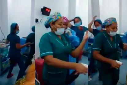 Imágenes del video que circuló por redes sociales y que, según autoridades, ocurrió en un centro asistencial de Cartagena.