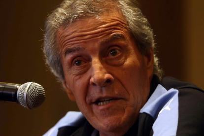Óscar Washington Tabárez, técnico de Uruguay.