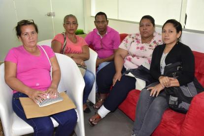 Omaira Mendoza, Maricel Colorado, Deivis Villarreal y Fanny Torregrosa.