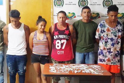Siete de los integrantes de la banda 'Los Caucanos' , capturados en Sincelejo por concierto para delinquir con fines de tráfico de estupefacientes.