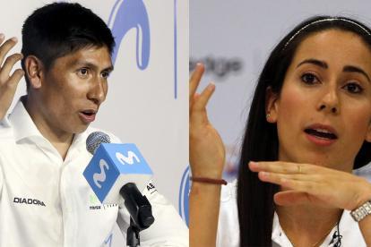 Nairo Quintana y Mariana Pajón.