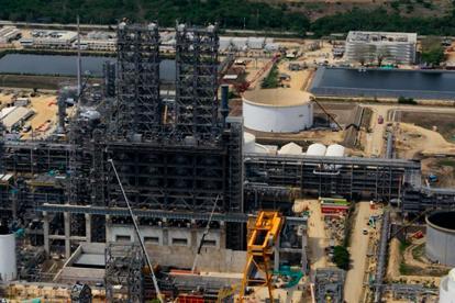 Vista de las unidades de la refinería de Ecopetrol en Cartagena, Reficar.