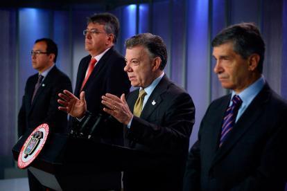 El presidente Santos anunciando la creación del 'Fondo Colombia en Paz'.
