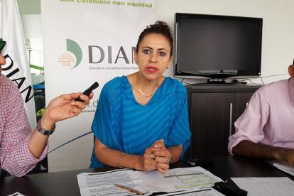 Nancy Holguín, directora de la DIAN en Barranquilla.