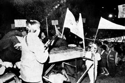 Momento del atentado que termino con la vida de Luis Carlos Galán Sarmiento.