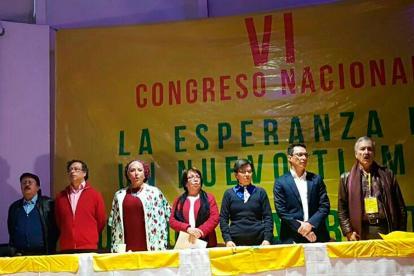 VI Congreso de la Unión Patriótica en la que participaron líderes de izquierda.