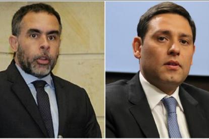 Armando Benedetti(i) y Mauricio Lizcano(d).