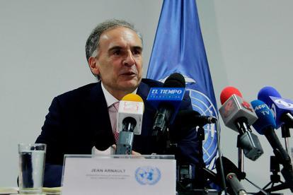 Jean Arnault, jefe de misión de la ONU en colombia