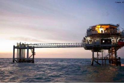 Plataforma costa afuera ubicada en el mar Caribe.