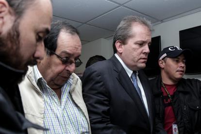 Eduardo Zambrano (I) y Federico Gaviria (D) fueron capturados por presunto caso de corrupción.