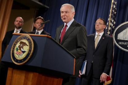Jeff Sessions, actual secretario de Justicia de EEUU.