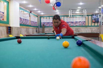 Rodrigo Navarro demostrando su talento.