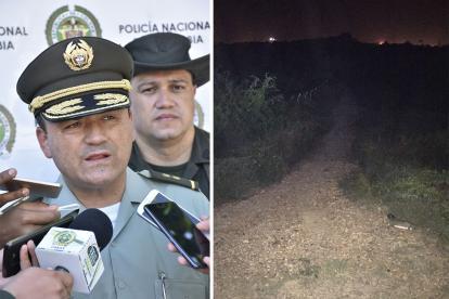 General Humberto Poveda y Aspecto de la trocha la Paz.