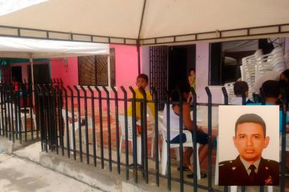 A esta casa de la transversal 3 del barrio la Granja sería llevado el cuerpo del subintendente asesinado en zona rural de Montería.