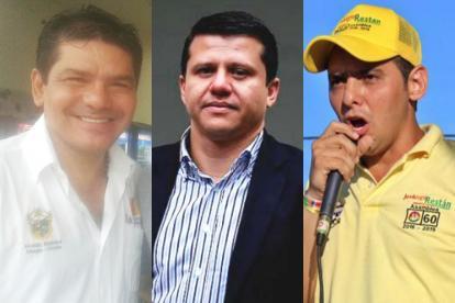 De derecha a izquierda: El alcalde de Sahagún, Baldomero Villadiego; el senador Bernardo 'Ñoño' Elías y  el diputado José Hugo Restán.