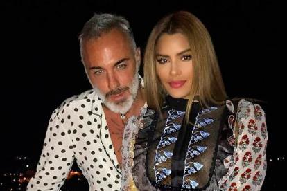 El italiano Gianluca Vacchi junto a Ariadna Gutiérrez.