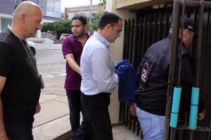 Óscar Tom Socarrás se entregó este sábado a la Fiscalía.