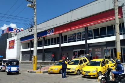 Fachada del almacén situado en el barrio Hipódromo en Soledad.