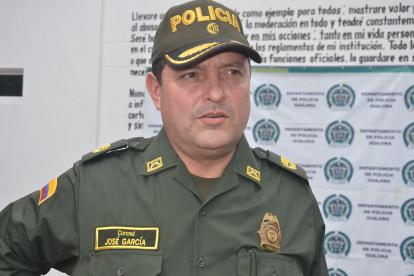 Coronel José García Mendivelso, comandante de la Policía de La Guajira