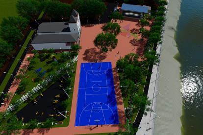 'Render' de lo que será la nueva plaza de Santa Lucía.