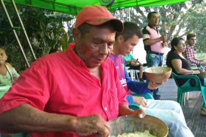 Evangelista Roatán, ganador del concurso del Comilón de Arroz Colorao en Cotorra, Córdoba.