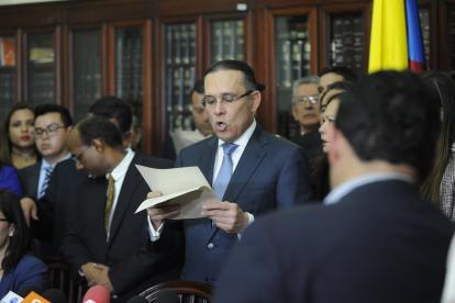 Efraín Cepeda, presidente del Senado