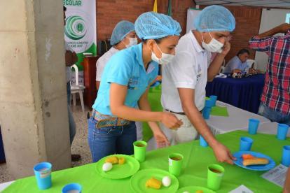 Aspectos de un comedor escolar en Sucre.