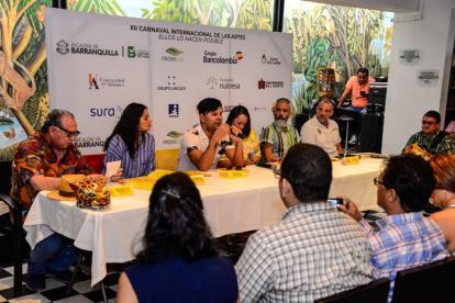 Equipo organizador del Carnaval de las Artes durante la rueda de prensa.