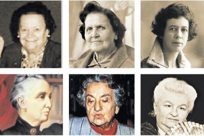 Las seis mujeres colombianas resaltadas en el libro: Cecilia Cardinal, Débora Arango, María Cano, Soledad Acosta, Virginia Gutiérrez, Emilia Pardo.