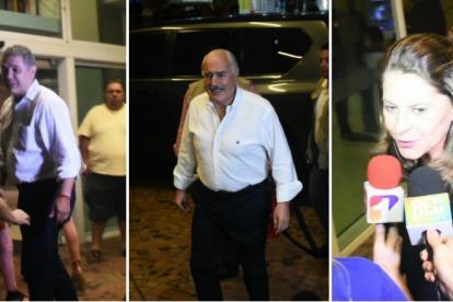 Iván Duque, Andrés Pastrana y Marta Lucía Ramírez llegando al hotel Dann Carlton.