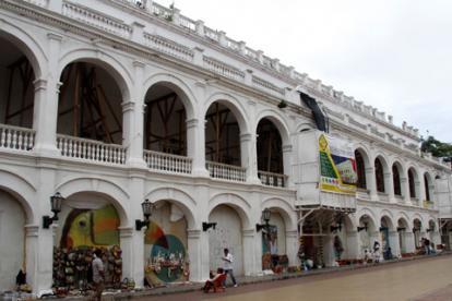 En esta edificación funcionaba la Gobernación de Bolívar, en el Centro Histórico de Cartagena de Indias.