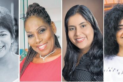 Victoria García, productora y abogada.  Carmen Meléndez, maestra en danza. Milena Aguirre, docente en artes plásticas.  Viridiana Molinares, abogada y escritora.