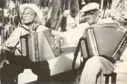 Lorenzo Miguel Morales y Emiliano Zuleta Baquero durante un encuentro.