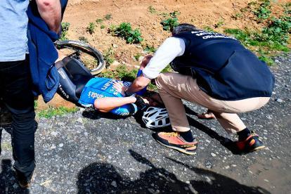 Michael Goolaerts sufrió el paro cardiaco en plena competición.